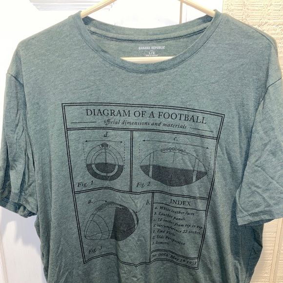 Banana Republic Other - Banana republic green football tee
